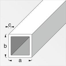 Vierkantrohr 1.25 x 20 x 20 mm kaltgewalzt 2 m