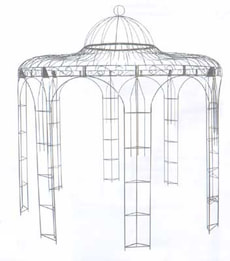 Pavillon rond métallique