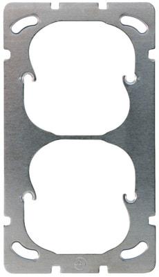 Montageplatte 130 x 70 mm 2-fach