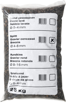 Palette Gravier concassé, 25 kg
