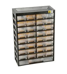 Mallette pour petites pièces, 33 tiroirs, 21 séparateurs