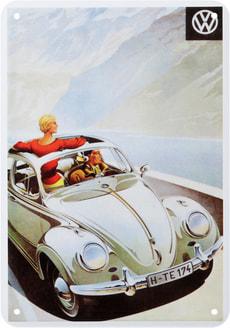 Werbe-Blechschild VW