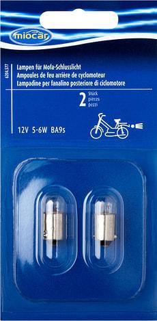 Ampoule 5-6W Ba-9s, Feu arrière cyclomoteur