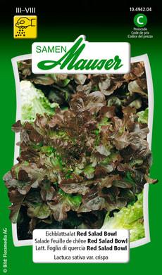 Lattughino Foglia di Quercia Red Salad Bowl
