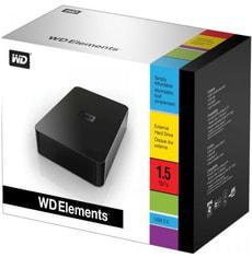 L- WD Elements Externe Festplatte 1.5 TB