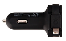 Car Charger 6A Lightning / USB Schwarz