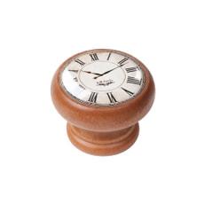 Möbelknopf weiss Uhr Honig