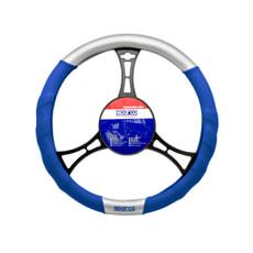 Housse volant bleu