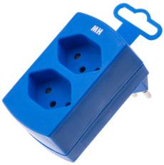 Abzweigstecker 2 x T13 blau