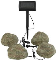 Lampe solaire LED pierres 4 pcs.