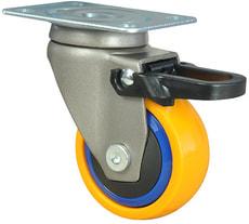 Roulette directionnelle 3C souple à frein 30kg
