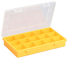 Boîtes d'assortiment, 15 compartiments, PP