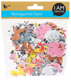 Moosgummi, Farm, 96 Stk.