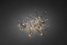 LED Tropfenlichterkette mit schwarzem Draht