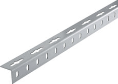 Winkel-Profil gleichschenklig 1.2 x 23.5 mm gelocht verz. 1 m