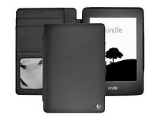 Sleeve di cuoio per Kindle Paperwhite, nero