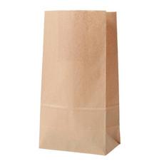 Papierbeutel,13 x 24 x 8 cm, braun, 6 Stk.