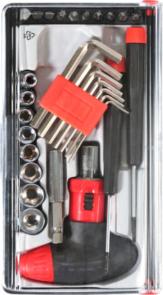 Boîte à outils univ. 29 pcs.