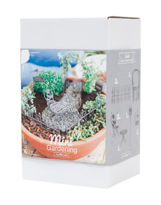 Mini-Gardening Romantic Box 7-pz.