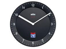 BNC006BKBK-RC horloge murale radio télécommandé noir