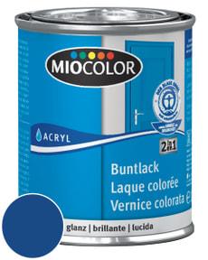 Acryl Buntlack glanz Enzianblau 125 ml