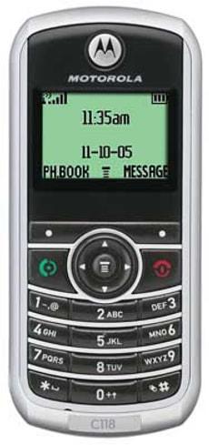 GSM MOTOROLA C118 SWC