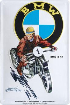 Signe de tôle publicitaire BMW Moto R37
