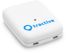 Tractive GPS Pet Tracker blanc