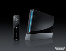 Wii Console black inkl. Fifa World Cup Game