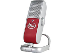Raspberry Microphone USB & Lightning, red/silver