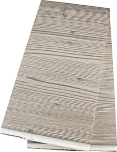 Lambris de bois brossé brun 2 pcs.
