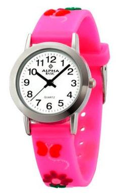 AB Kids Blumen pink Armbanduhr