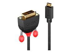 Mini HDMI - DVI Câble, Black Line 1m