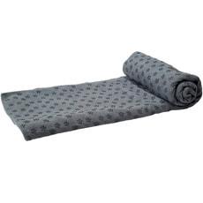 Yoga Tuch Rutschfest mit Tasche grau