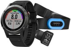 GPS Fenix 5 Bundle - Grau/Schwarz