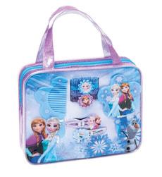 Disney Frozen set accessri per capelli con 2 mollette, 4 elastici per capelli, pettine e specchio 19x4x16 cm