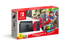 Console Switch Rouge incl. Super Mario Odyssey