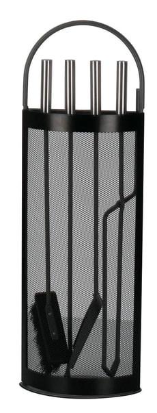 Valet de cheminée, noir