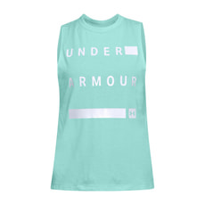Muscle Tank Linear Wordmark Womens
