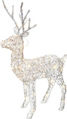 LED Rattan deer white ALVAR