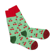 DILLY SOCKS Red Cherry