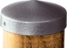 Capuchons pour poteaux en bois, plat sans boule, ∅ 10 cm