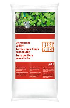 Terreau pour fleurs, 50 l