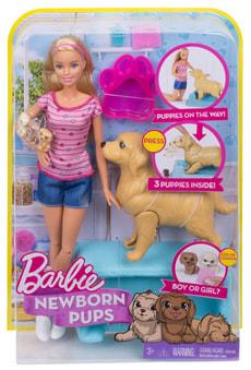 Barbie Hundemama, Welpen & Puppe