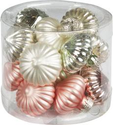 Ornaments verre 15 Pcs. Pastel