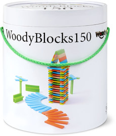 Woody 150 farbige Holzklötze  (FSC®)