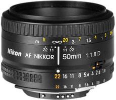 Nikkor AF 50mm/1.8 D Objektiv