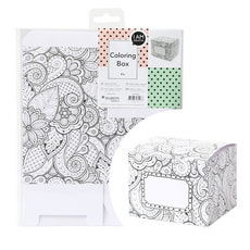 Gift Box Colouring 10,5 x 9 x 9 cm
