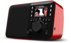 L-A Logitech Squeezebox Radio red