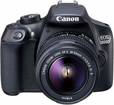 EOS 1300D, EF-S 18-55mm DC III Spiegelreflexkamera, inkl. Tasche und 16 GB Speicherkarte